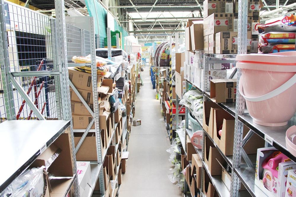 Feedo sklad: Hlavní sklad, ve kterém je uloženo již naskladněné zboží.
