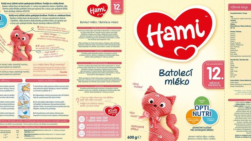 Kojenecké mléko Hami 12+ od dvanáctého ukončeného měsíce