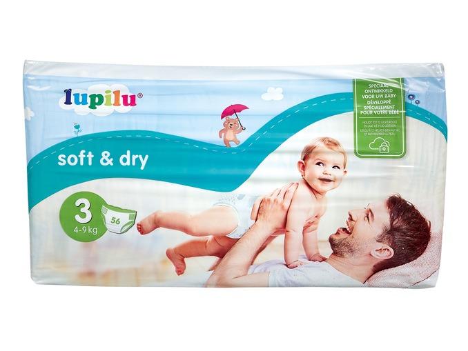 Plenky Lupilu z Lidlu Soft&Dry.