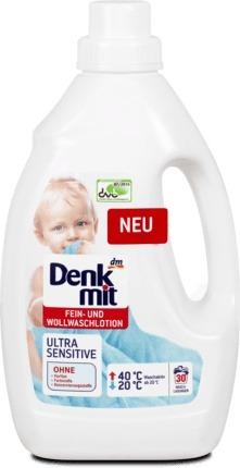 Denkmit prací gel Ultra Sensitive na jemné prádlo a vlnu