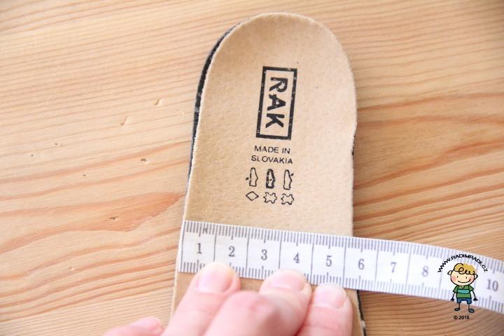 Boty Rak - stélka obuvi velikosti č. 27.