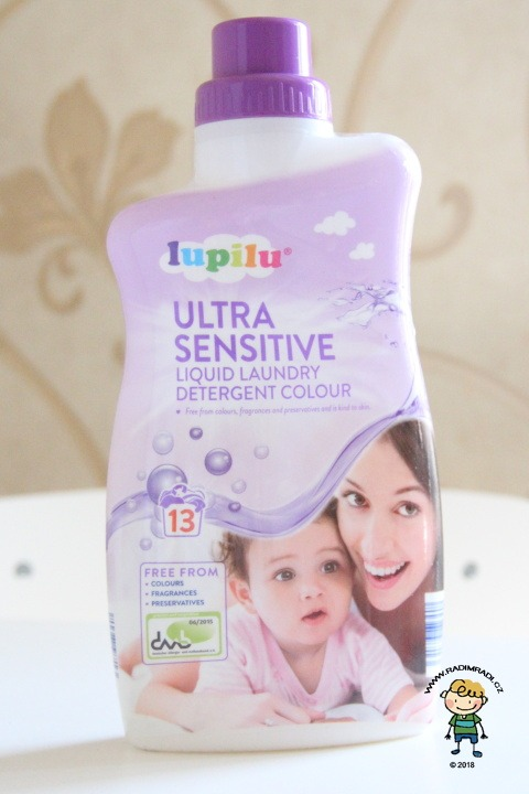 lupilu ultra sensitive liquid laundry detergent color - v jednom balení je 13 dávek.