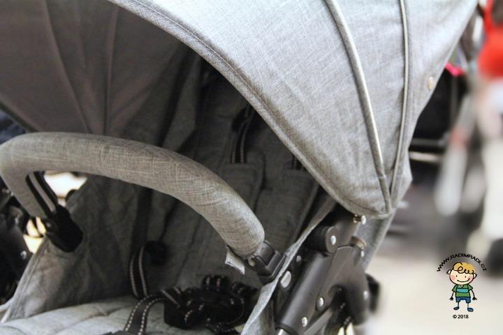 Valco Snap 4 Tailor Made - detail na sedačku a stříšku.