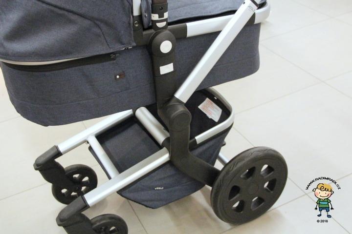 Konstrukce Joolz Day 3 - korbička, kola, košík.