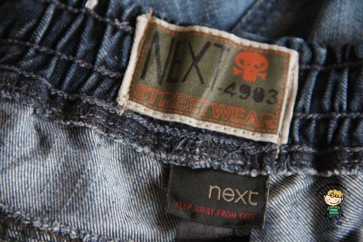 Oblečení značky Next.