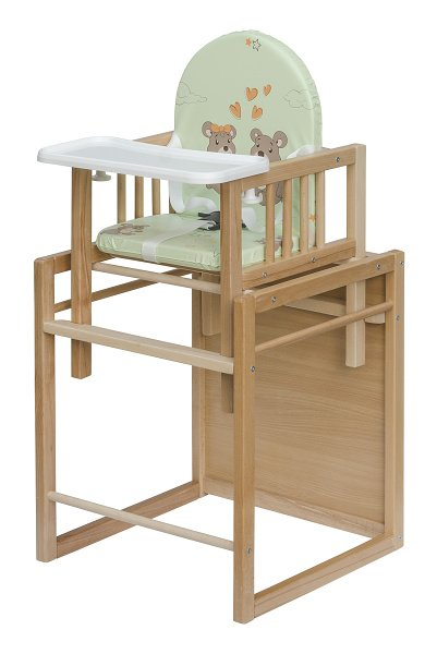 Dřevěná jídelní židlička bez polohování