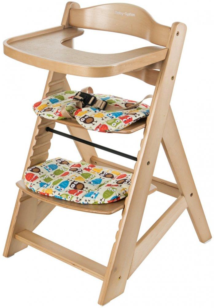 Dřevěná rostoucí jídelní židlička Sun Baby Woody