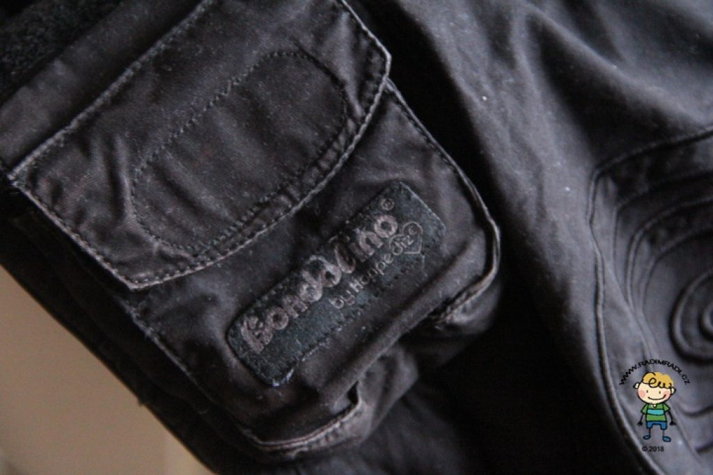 Detail na kapsičku nosítka Bondolino.