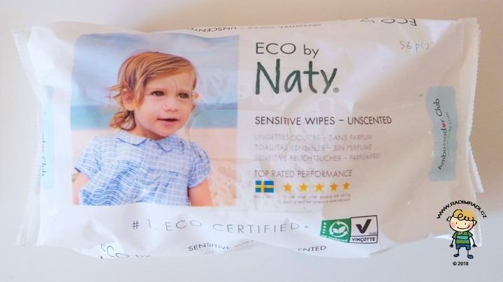 Vlhčené ubrousky Naty ECO sensitive