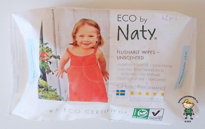 Vlhčené ubrousky Naty flushable wipes